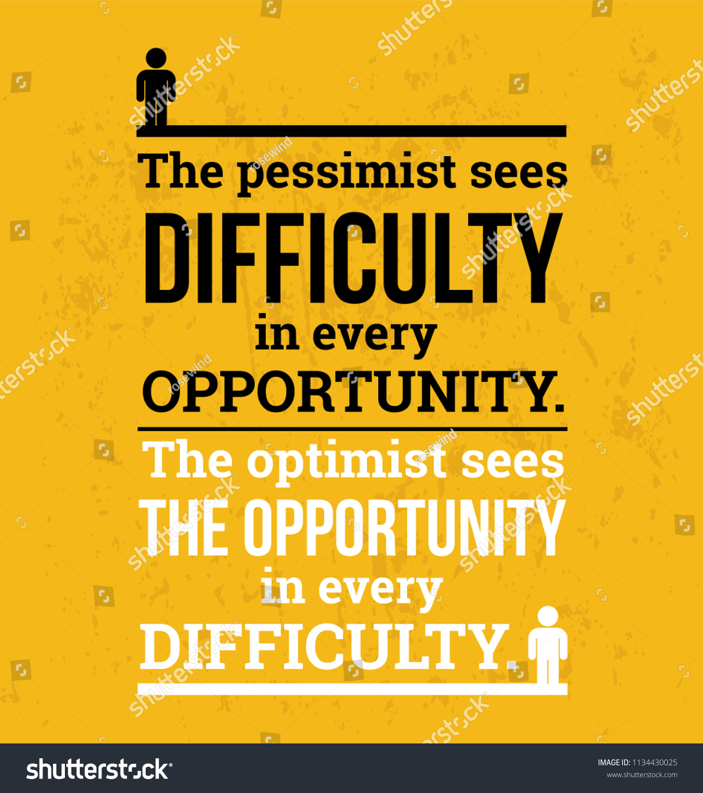 Quotes About Opportunity | Optimist Sees Opportunity Vector Motivational Quotes Stock Vector