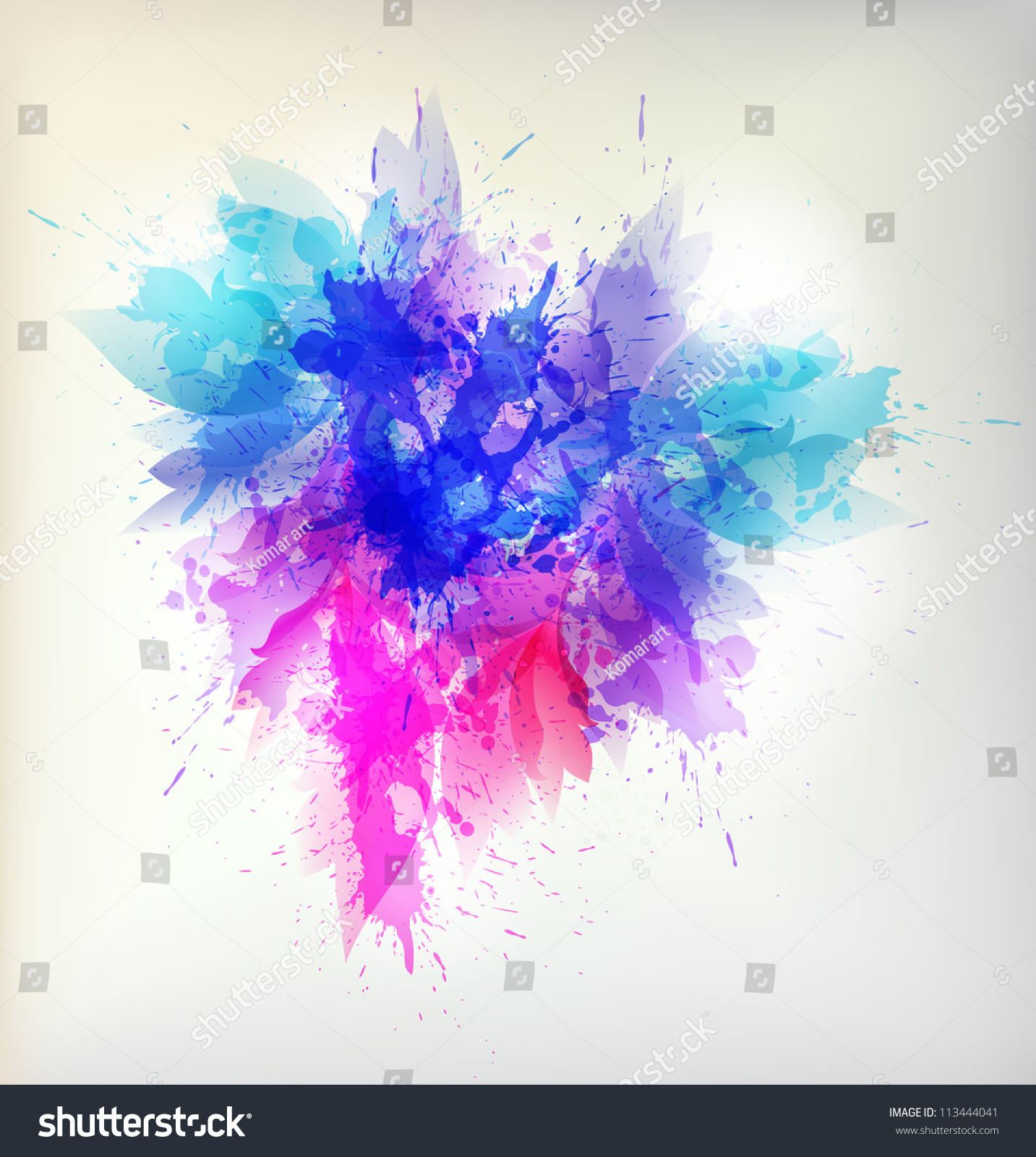 Abstract Flower Background With Decoration Elements For: Abstract Artistic Background Floral Element Colorful Stock