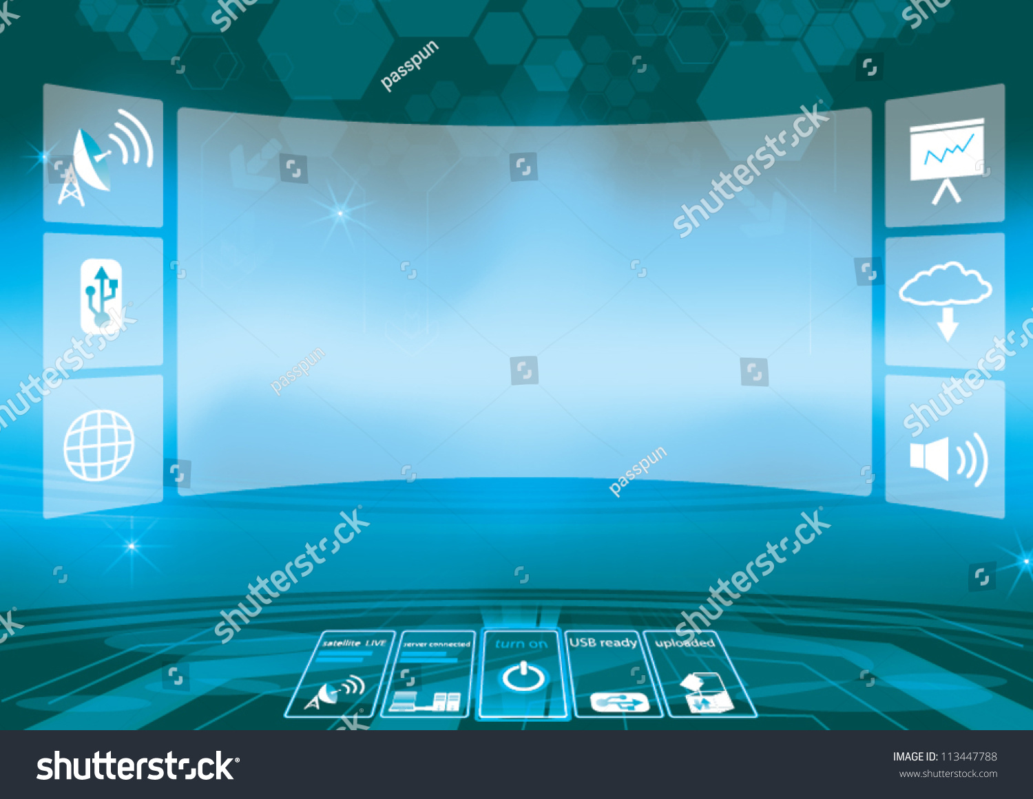 Technology Abstract Background Stock Illustration: Abstract Technology Background Vector Illustration Control