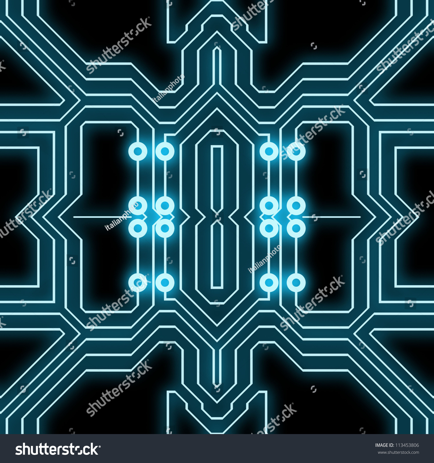 Abstract Computer Chip Background Stock Illustration ...