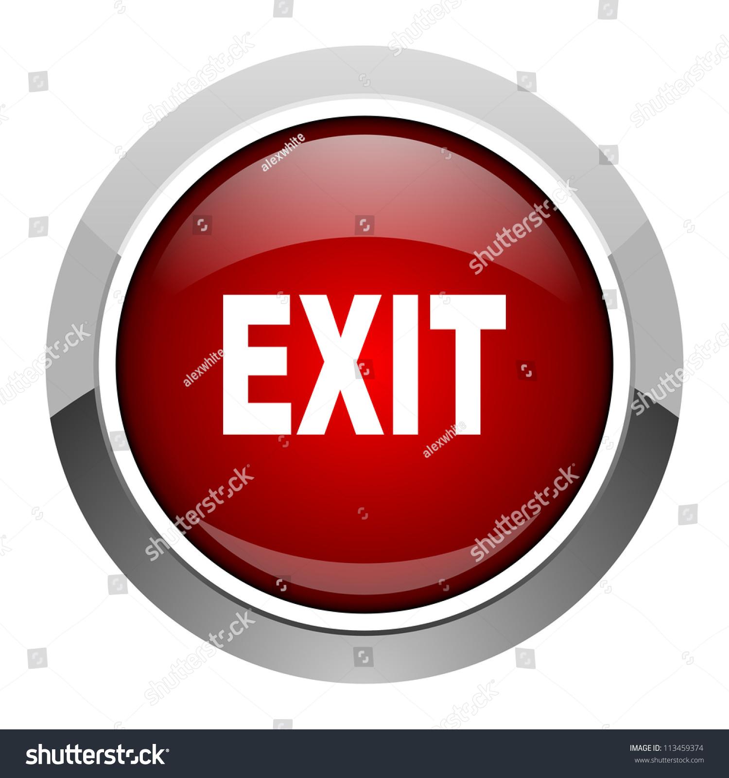 Exit Icon Stock Illustration 113459374
