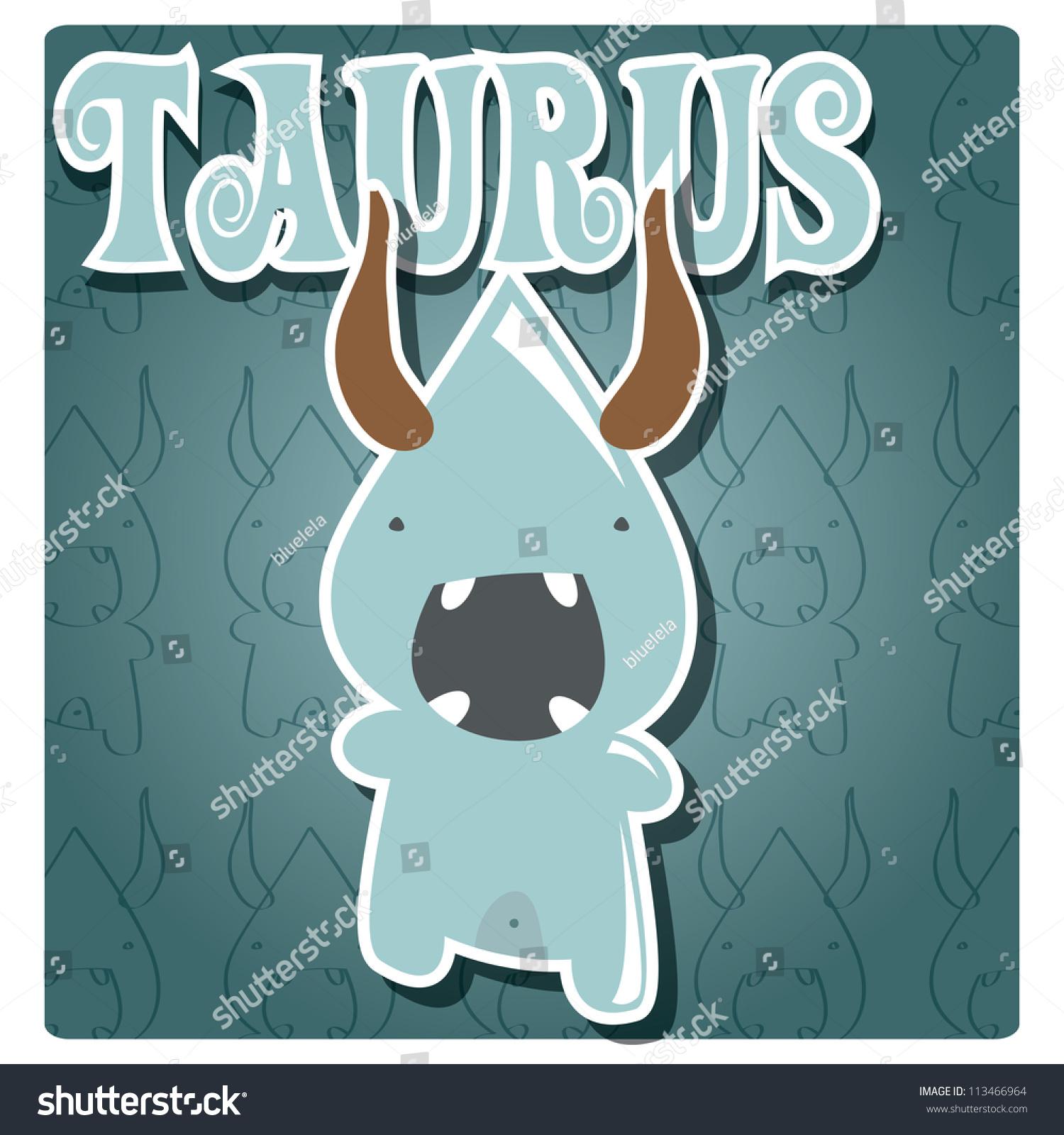 Zodiac Sign Taurus Stock Vector Zodiac Sign Taurus With Cute Colorful