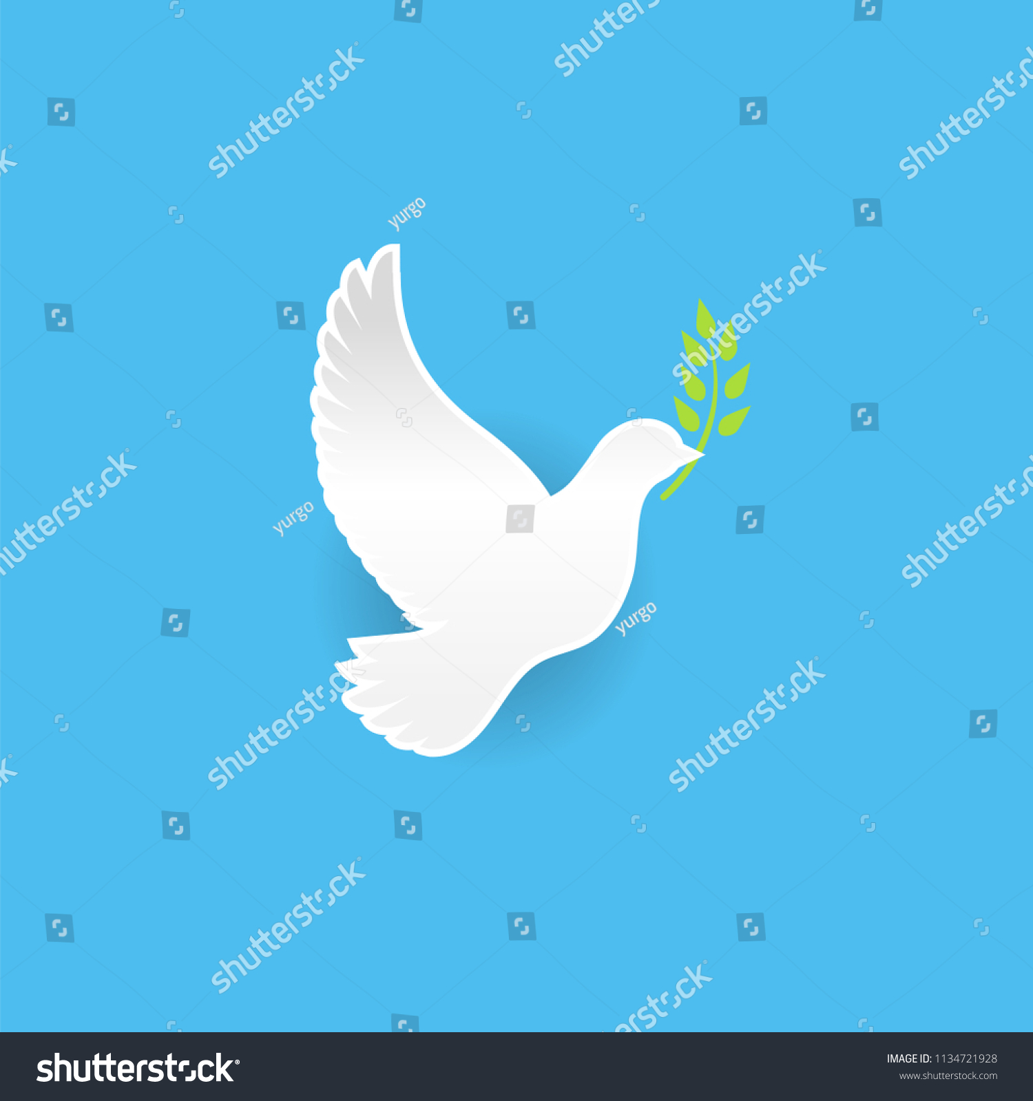 Peace Dove Pigeon Olive Branch International Stock Vector Royalty