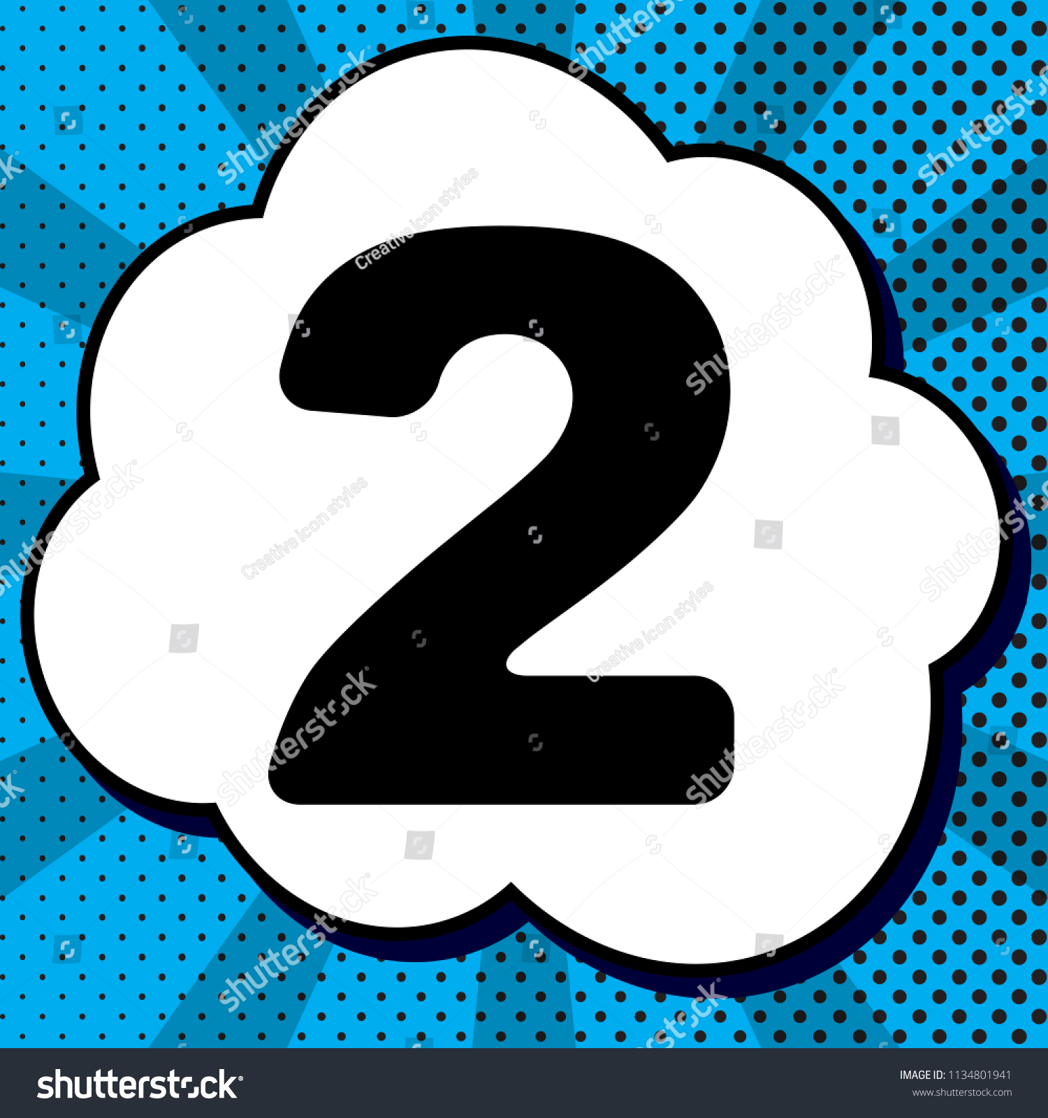 number 2 sign design template elements stock vector royalty free