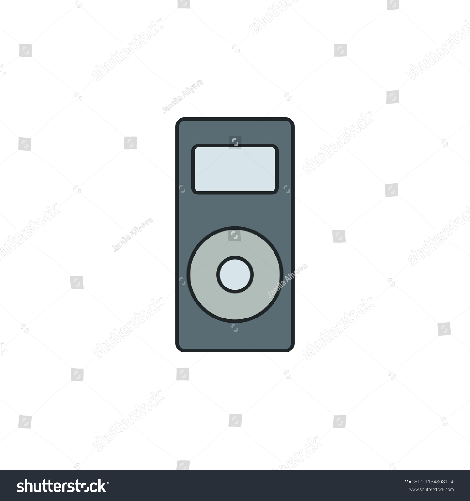 Royalty Free Stock Illustration of Music Player Icon Element
