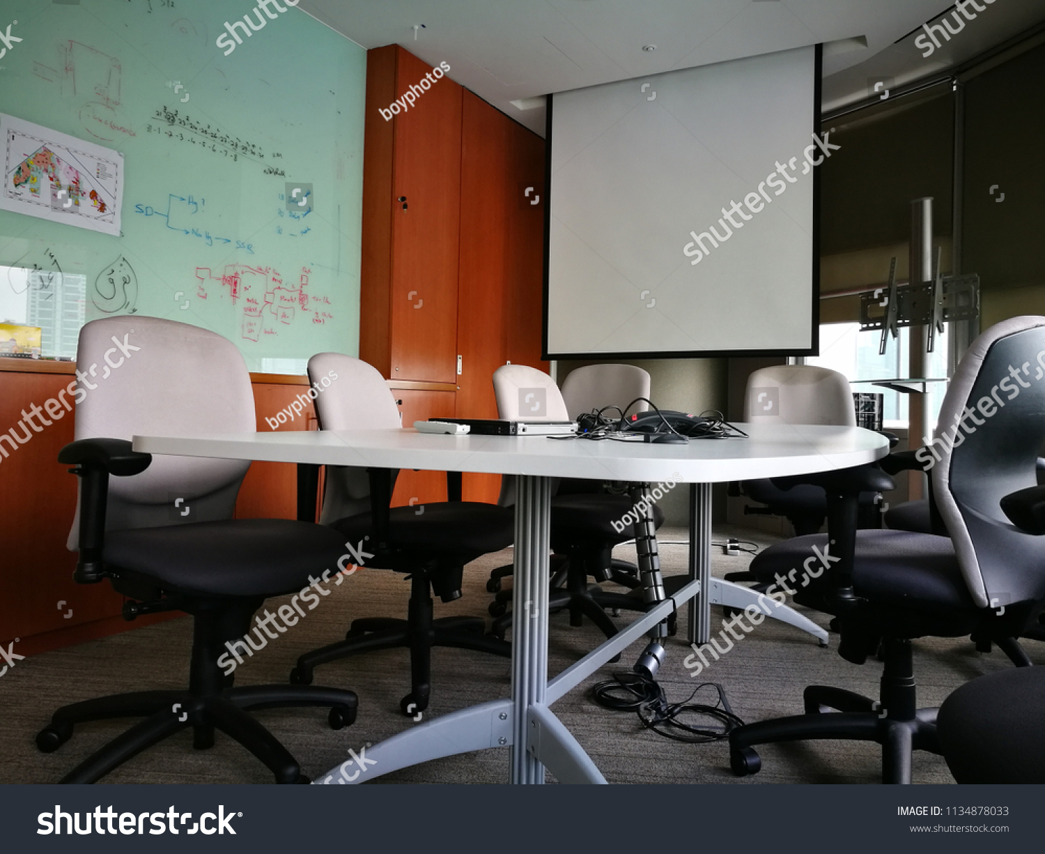 Modern Meeting Room Board Projector Stock Photo Edit Now