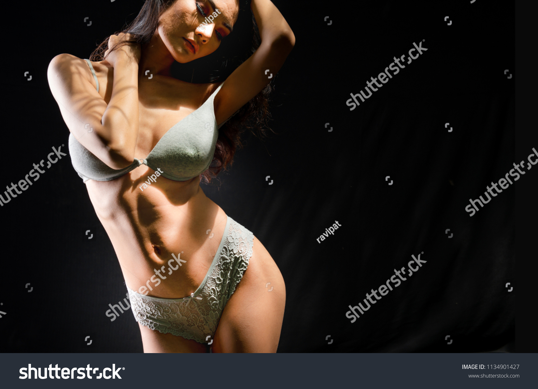 Bikini boob bra lingerie pose