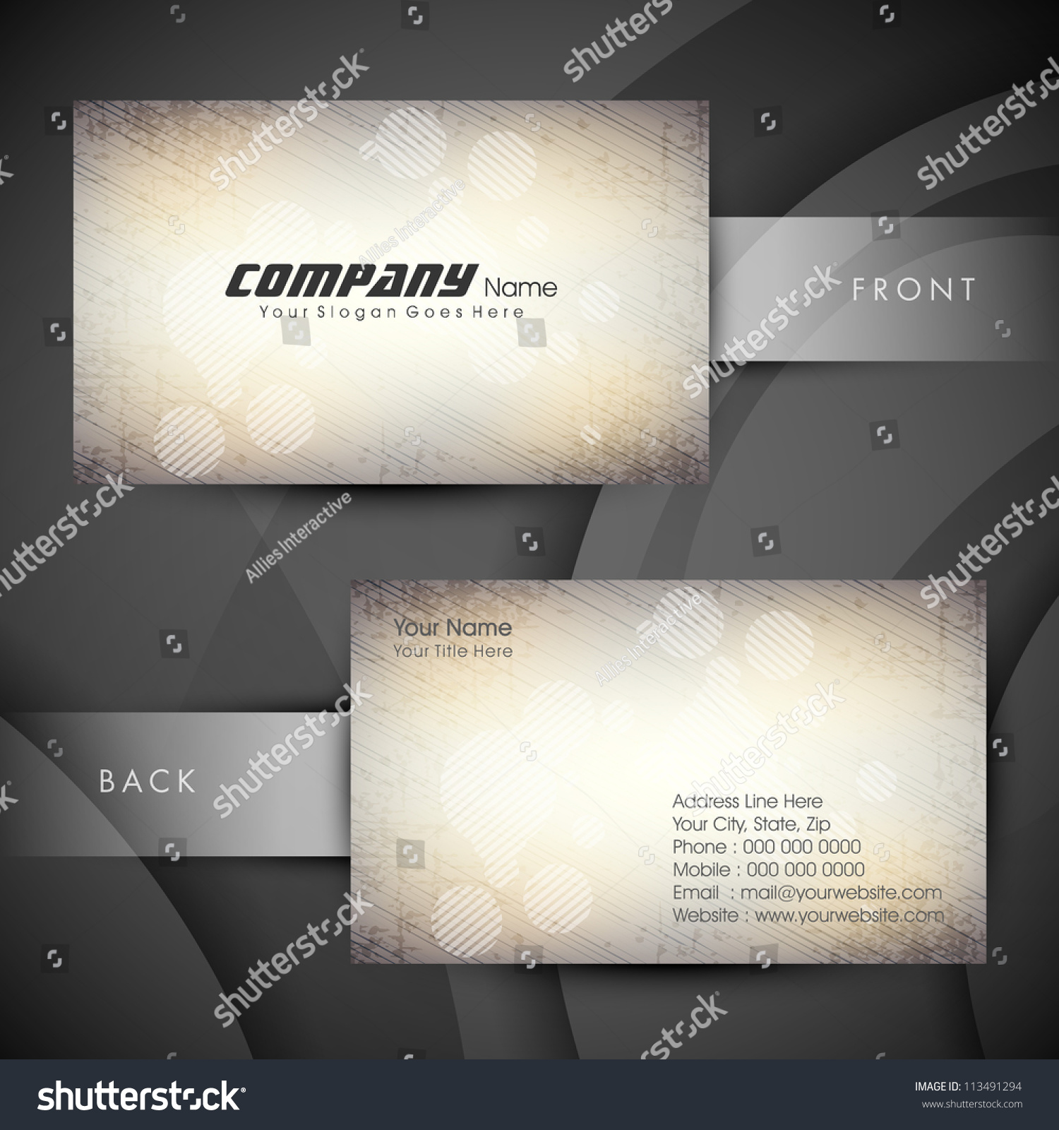 Abstract professional designer business card template stock vector abstract professional and designer business card template or visiting card set eps 10 pronofoot35fo Choice Image