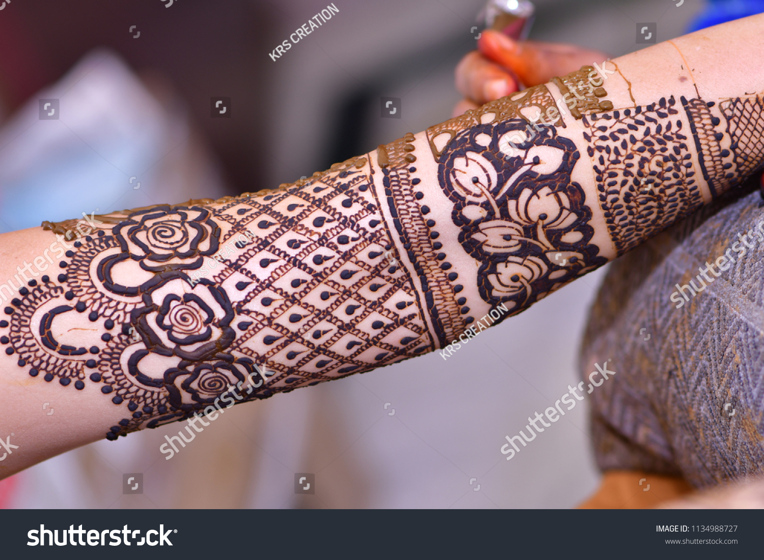 Indian Couple Bridal Hands Legs Mehndi Stock Photo Edit Now