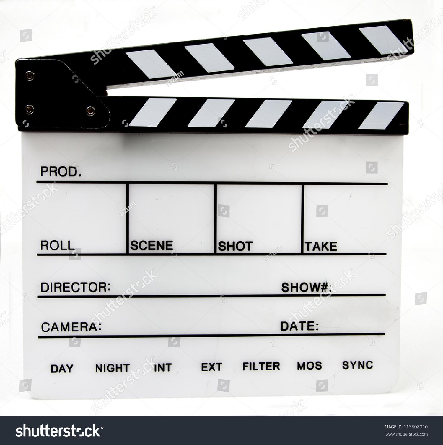 blank film slate - photo #16