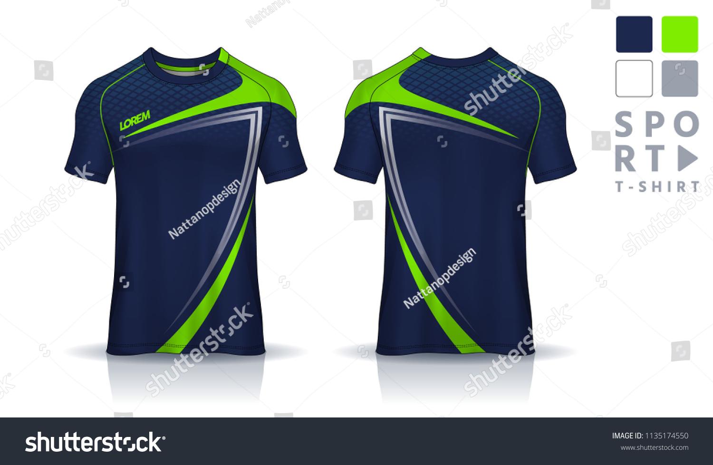 tshirt sport design template soccer jersey mockupuniform のベクター