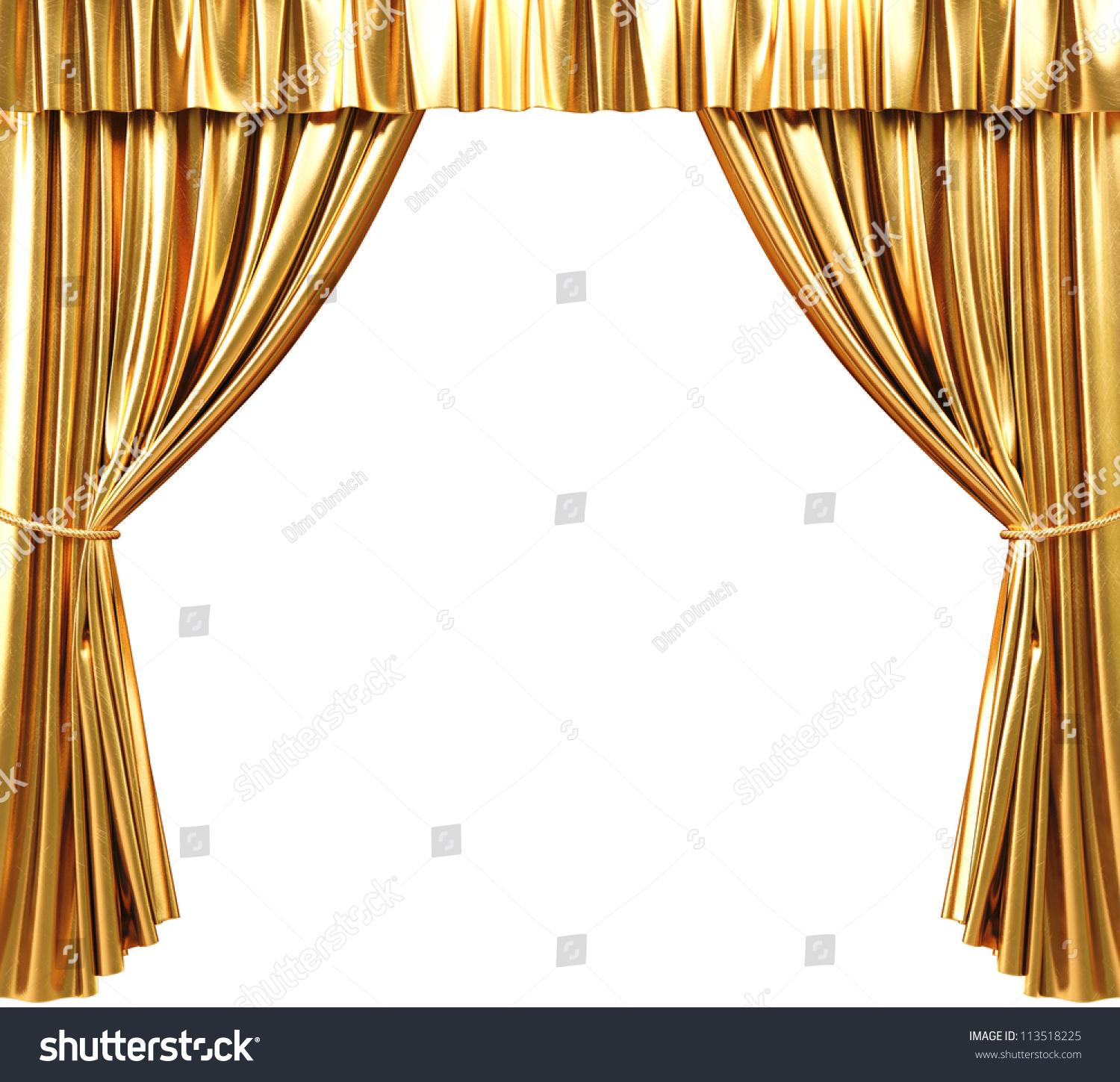 Theatre curtains png - Gold Curtains Background Golden Theatrical Curtain 3d Image