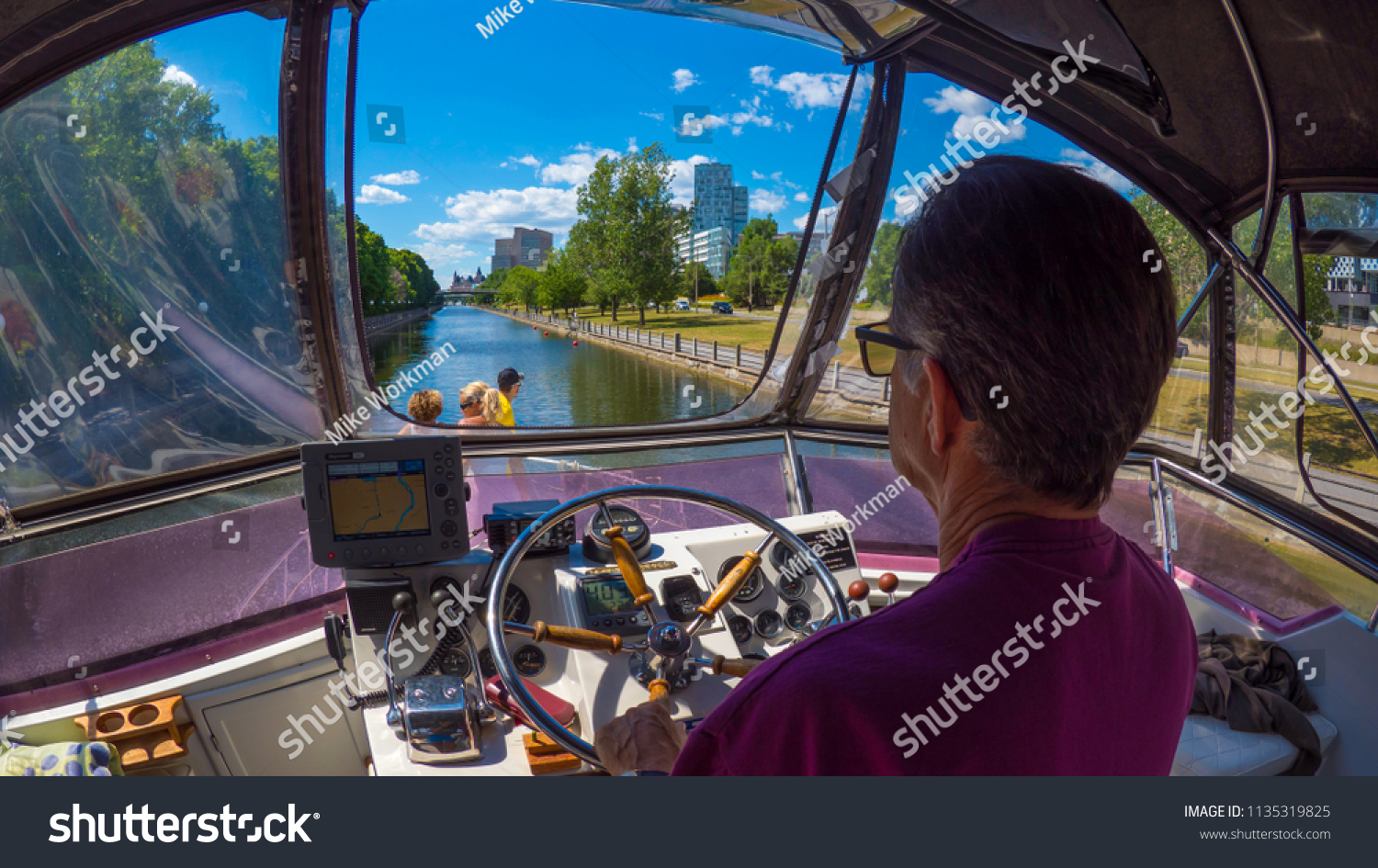 Ottawa Ontario Canada July 7th 2015 Boating Stock Photo (Royalty ...