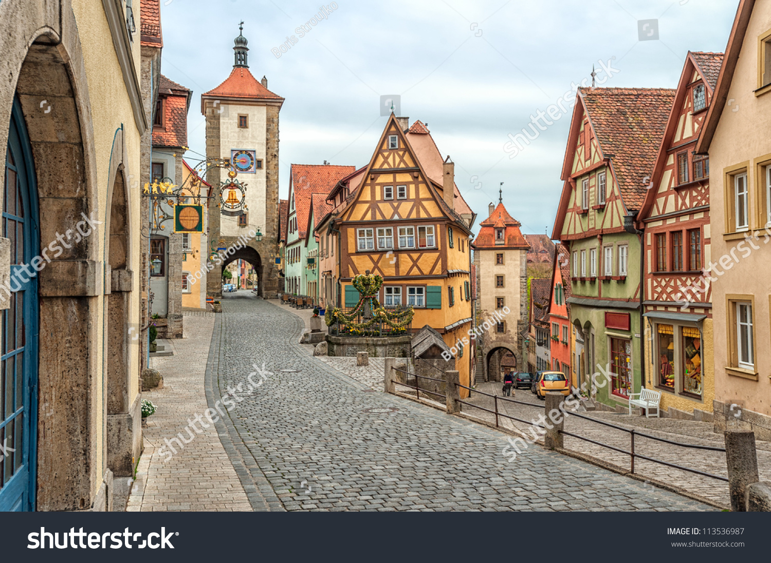 rothenburg ob der tauber famous historical の写真素材 今すぐ編集