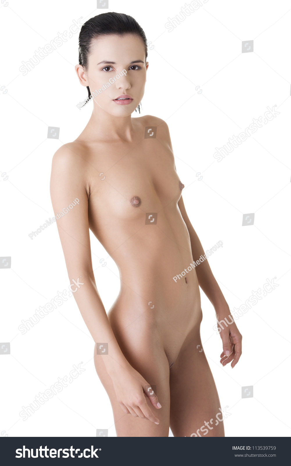 Young Fit Naked Woman Perfect Slim Stock Photo 113539759 -7852