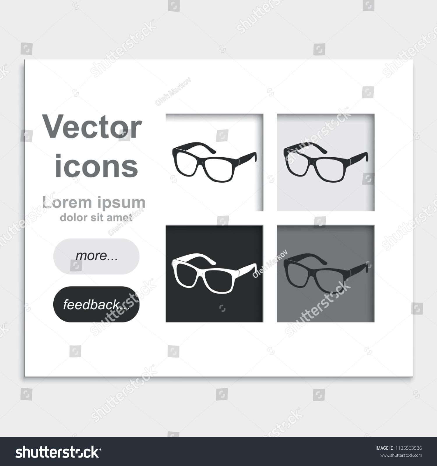 Hipster Glasses Placed On Web Page Stock Vector Royalty Free
