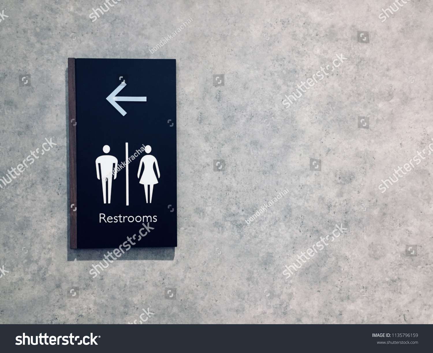 Signs toilet restroom signs toilet icon vintage on the wall background image for