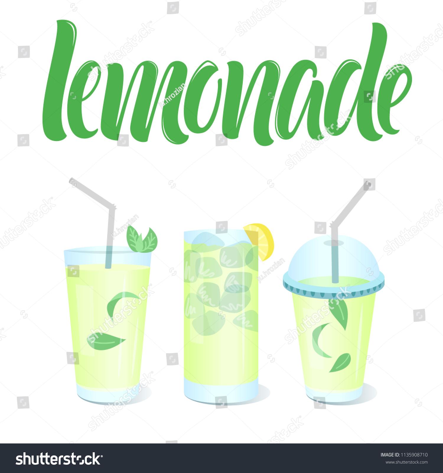 lemonade menu template vector glasses cup stock vector royalty free