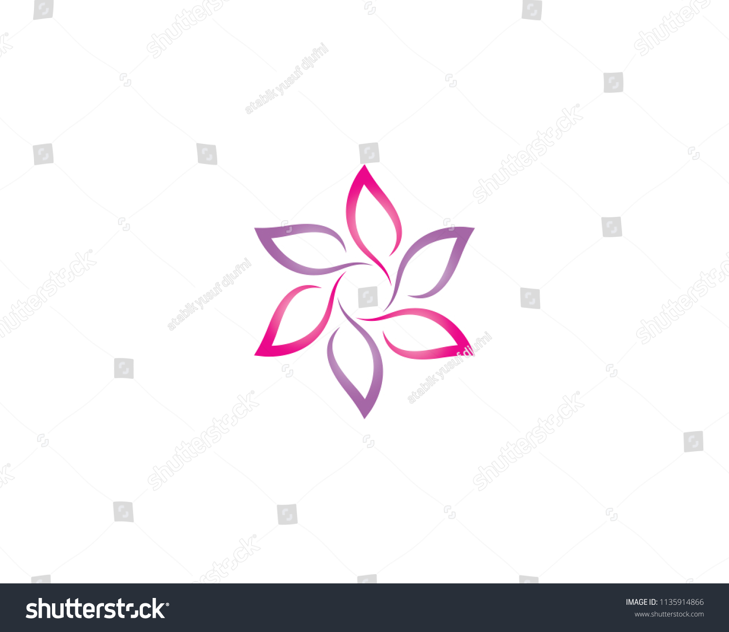 Beauty flower symbol illustration stock vector royalty free beauty flower symbol illustration izmirmasajfo