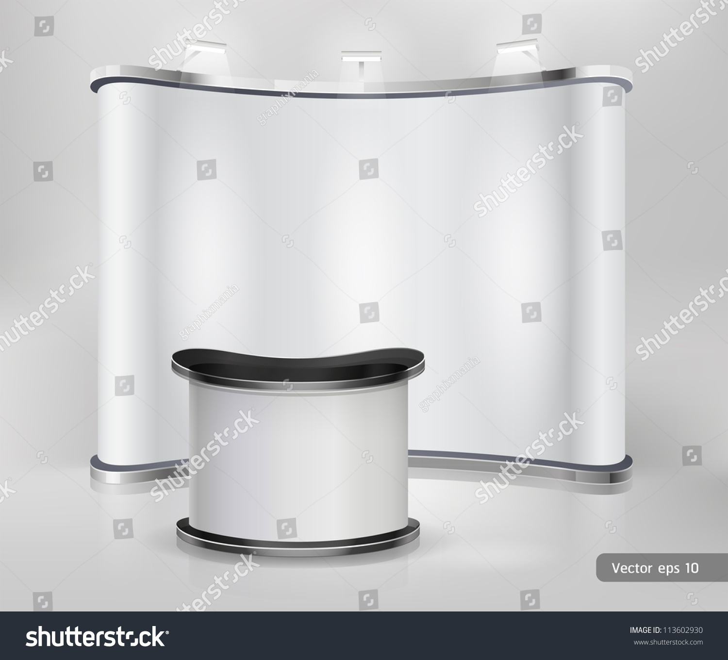 Small Exhibition Stand Vector : Trade exhibition stand display vector stock vector royalty free
