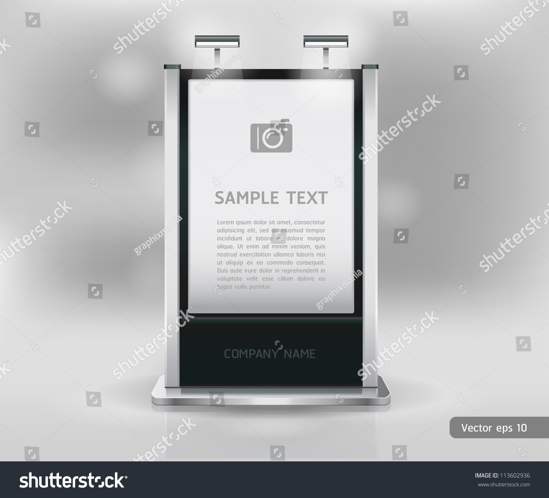 Trade Exhibition Stand Vector : Trade exhibition stand display vector
