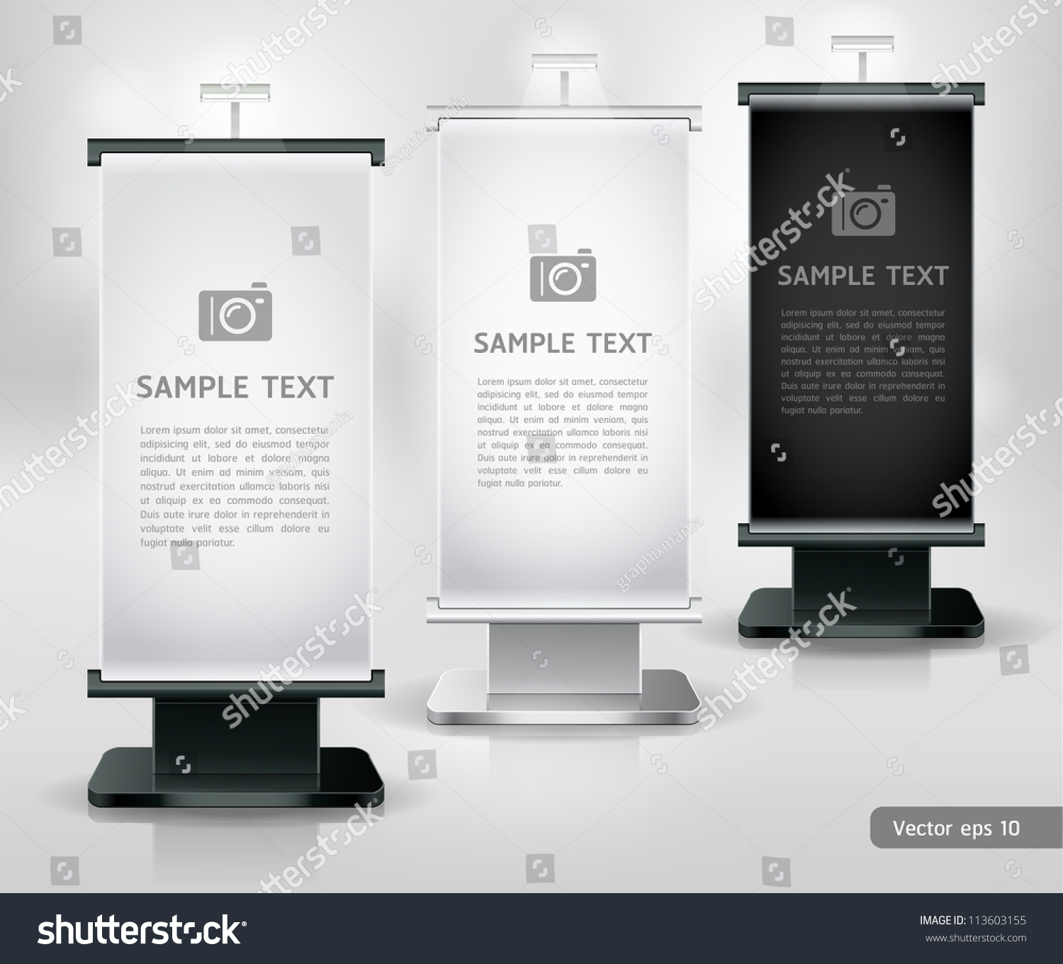 Exhibition Stand Vector : Trade exhibition stand display vector