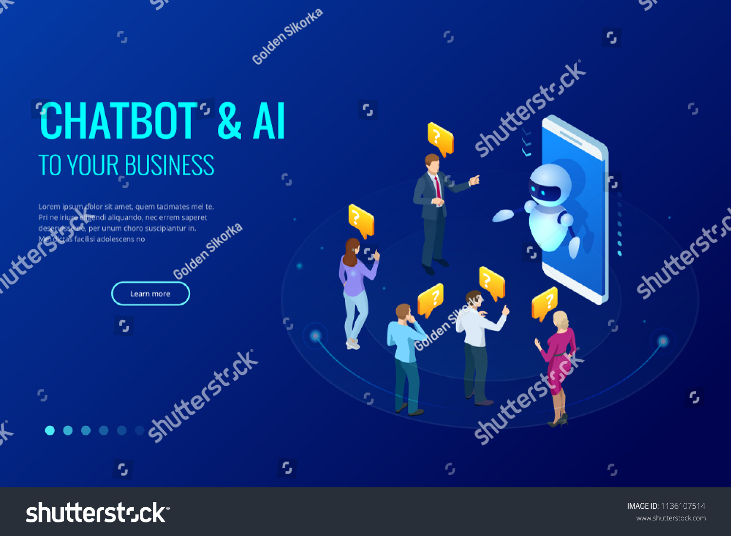 Isometric Artificial Intelligence Chat Bot Future Stock Vector Remote Control Circuit Board Promotiononline Shopping For Promotional And Marketing Ai Business Iot Concept