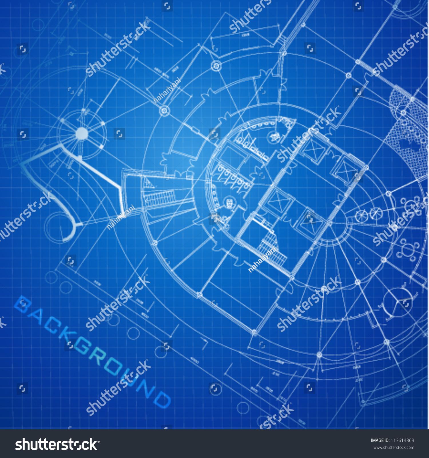 Urban blueprint vector architectural background part stock for Architecture design blueprint