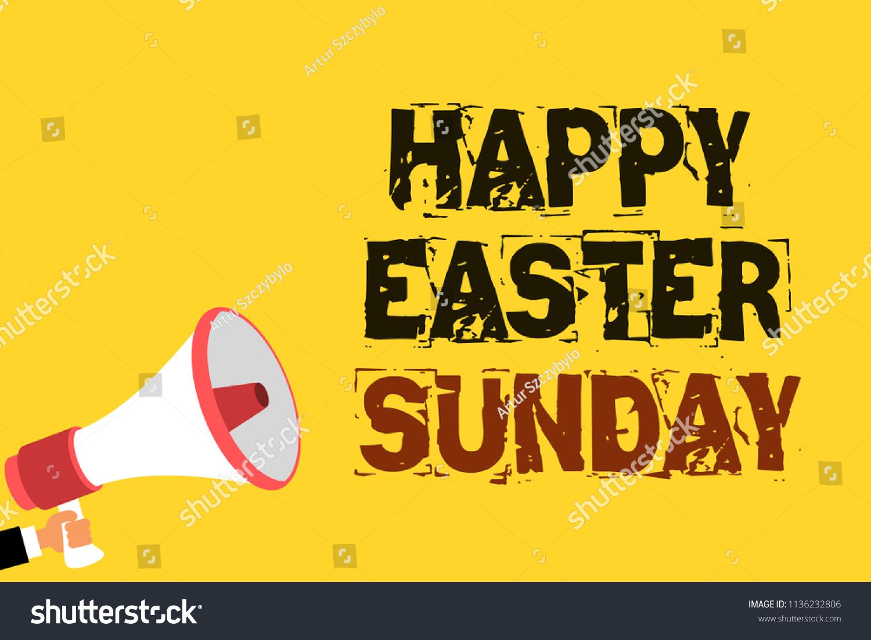 Handwriting Text Writing Happy Easter Sunday Stock Illustration