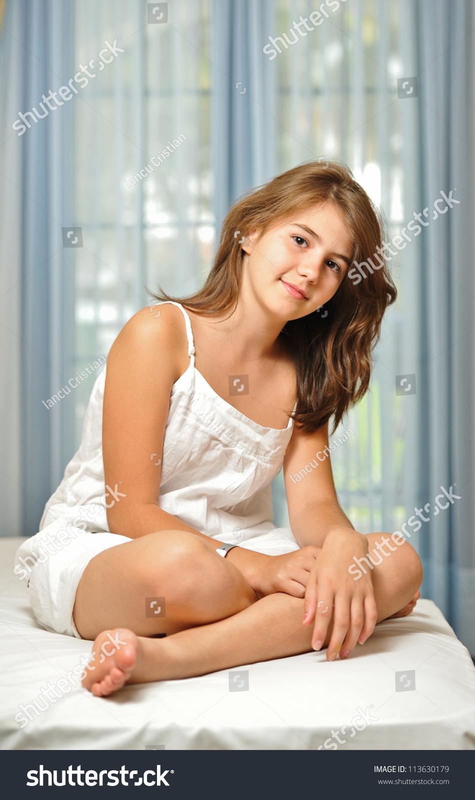 Portrait Smiling Beautiful Teen Girl Home Stock Photo 113630179 - Shutterstock-1326