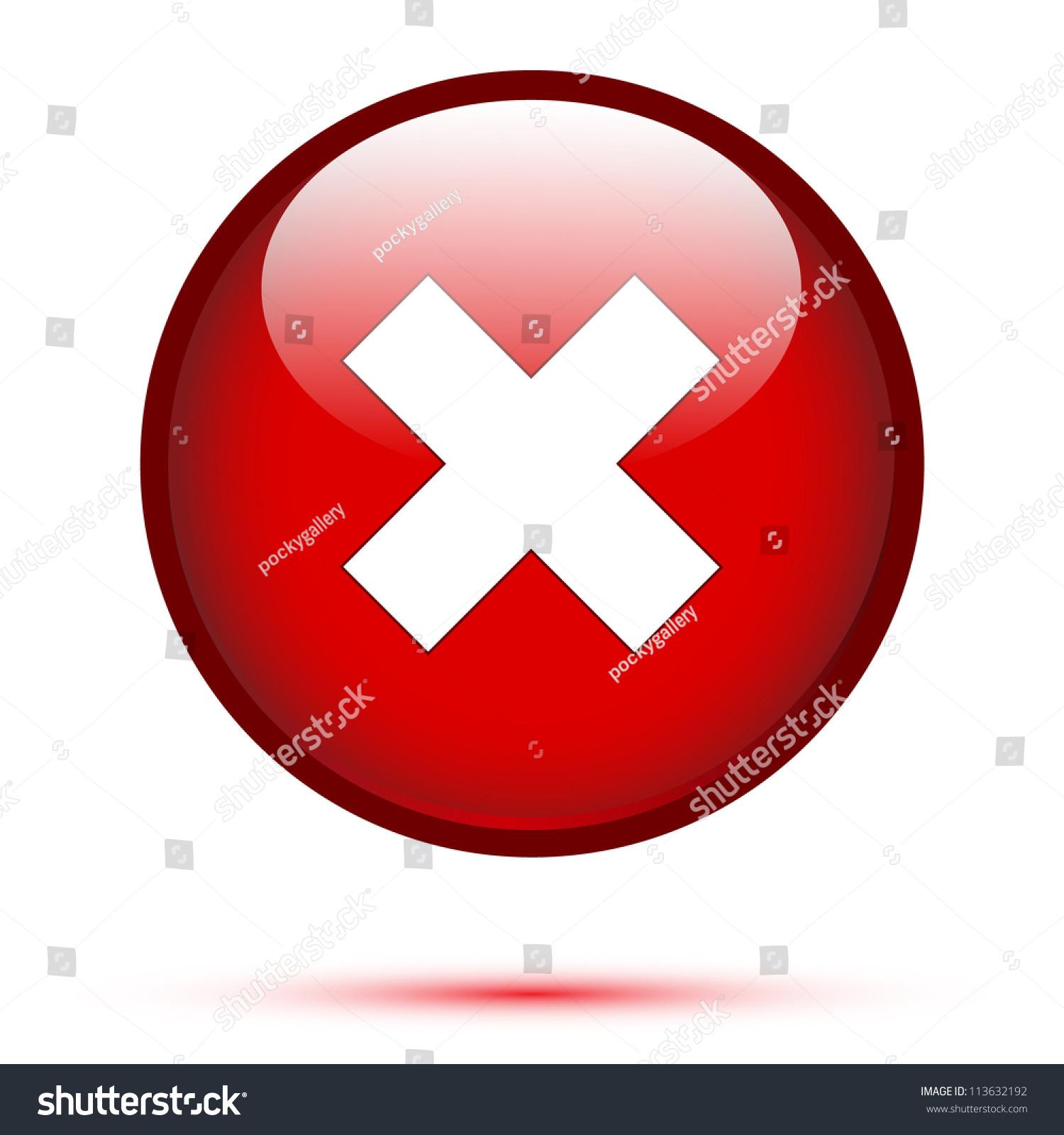 Delete Icon On White Background Stock Vector 113632192 - Shutterstock