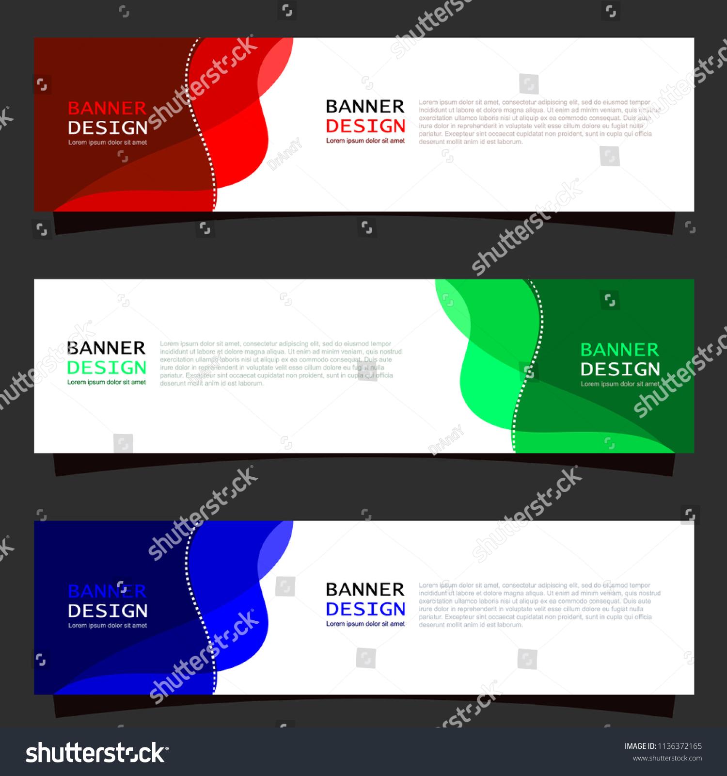 creative abstract banner template website header のベクター画像素材
