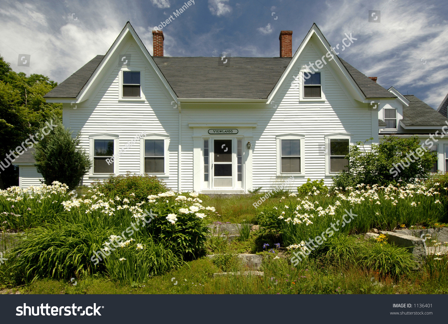 New england country home surrounded by stock photo 1136401 for New england country homes