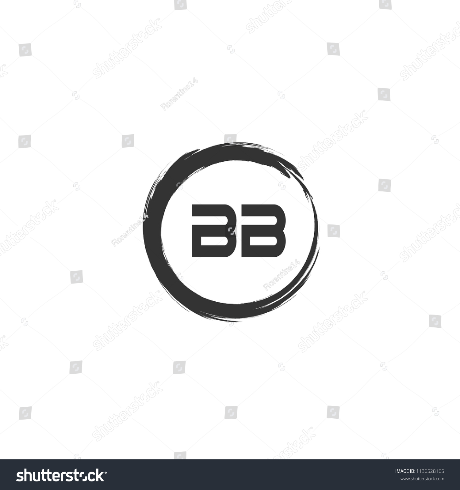 Initial Letter Bb Logo Template Design Stock Vector Royalty Free