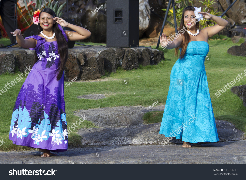 Kauai Hawaii August 7 Aloha Festival Stock Photo 113654719