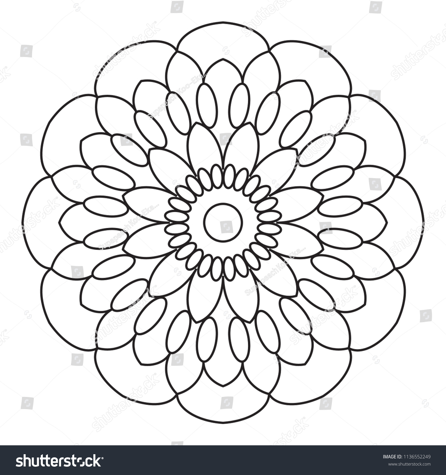 Royalty Free Stock Illustration Of Easy Mandala Basic Simple