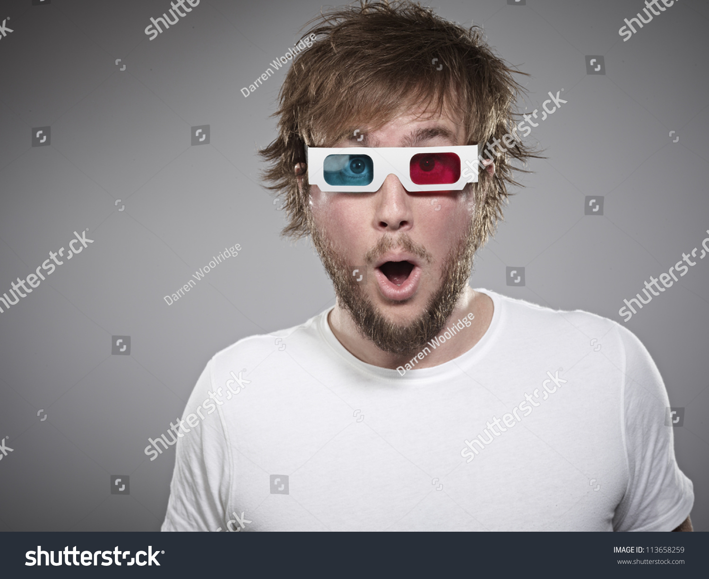 Man Wearing 3d Glasses Stock Photo 113658259 - Shutterstock