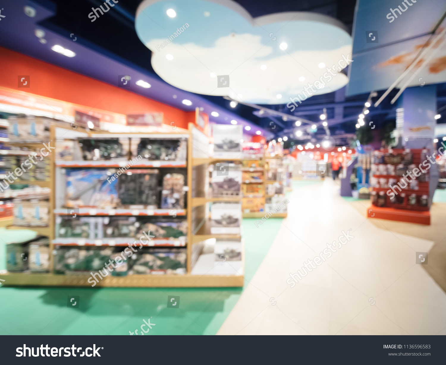 Blurred Kids Toy Store Background Bokhe Stock Photo Edit Now
