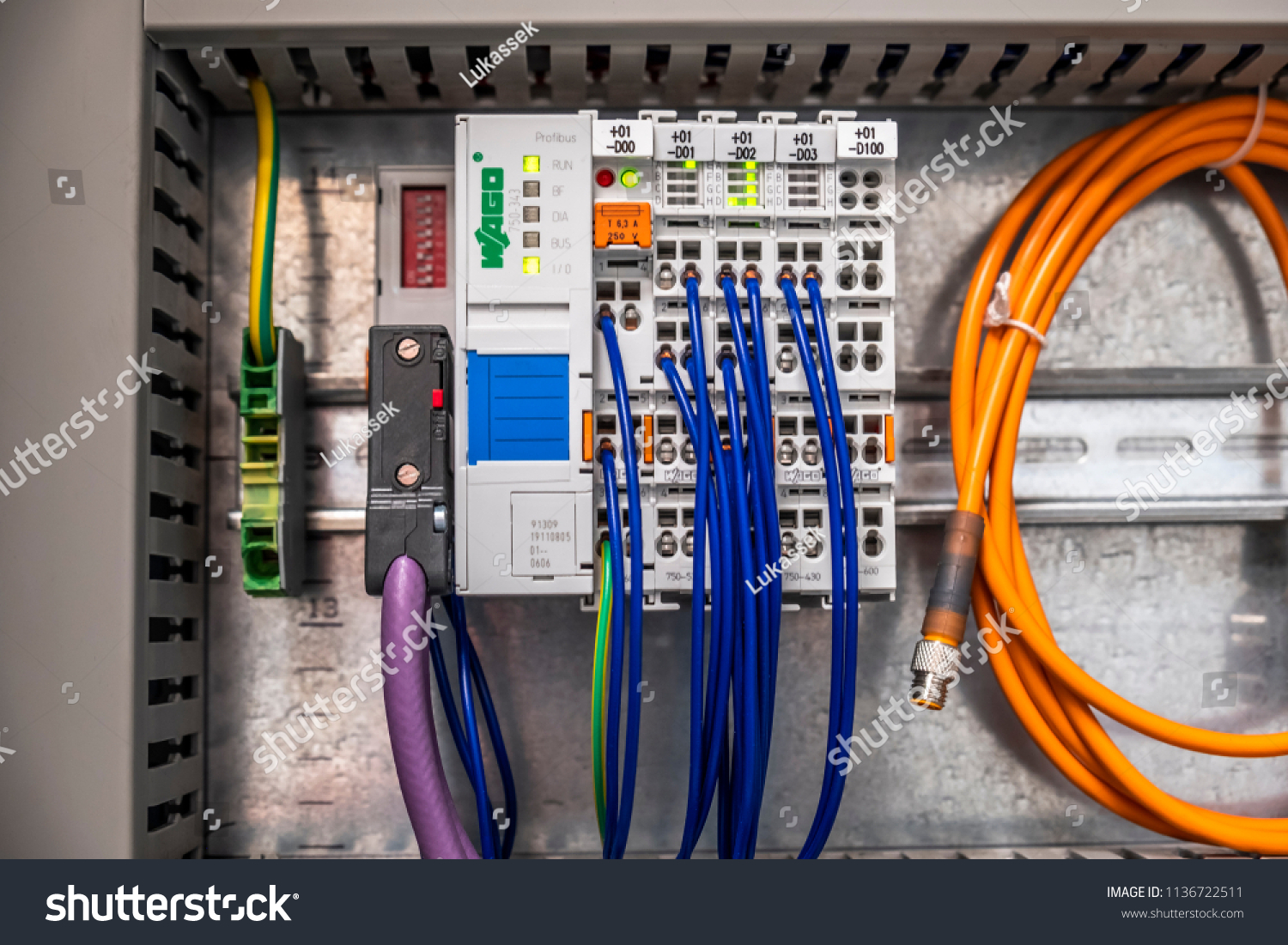 Burbach Germany July 16 2018 Digital Stock Photo Edit Now Smart Home Wiring Input And Output Module For