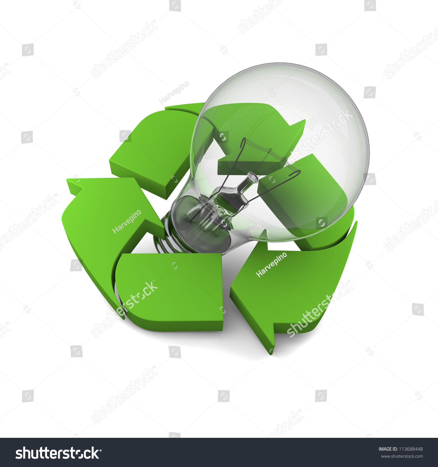 Lightbulb inside recycling symbol cocnept new stock illustration lightbulb inside recycling symbol cocnept of new ideas in environmental protection and conservation buycottarizona Image collections