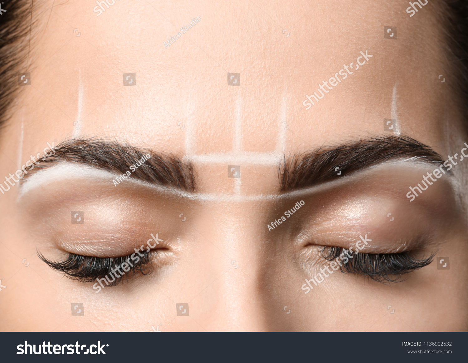 Young Woman Before Procedure Eyebrows Permanent Stock Photo Edit