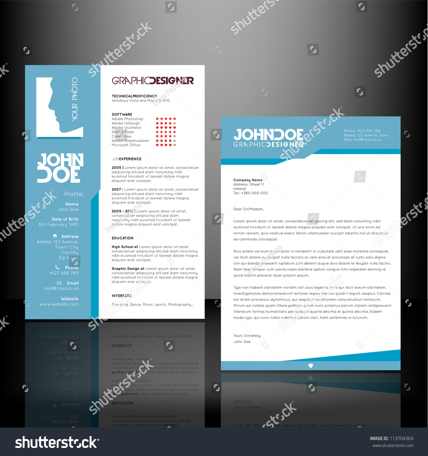 resume cv template stock vector illustration  resume cv template preview save to a lightbox