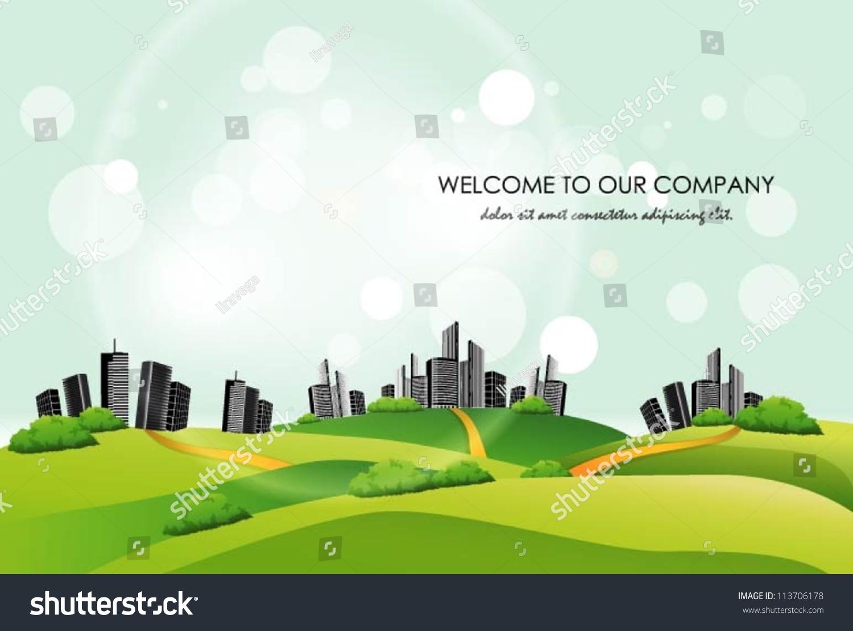 City Landscape Background. Vector Illustration - 113706178 ...