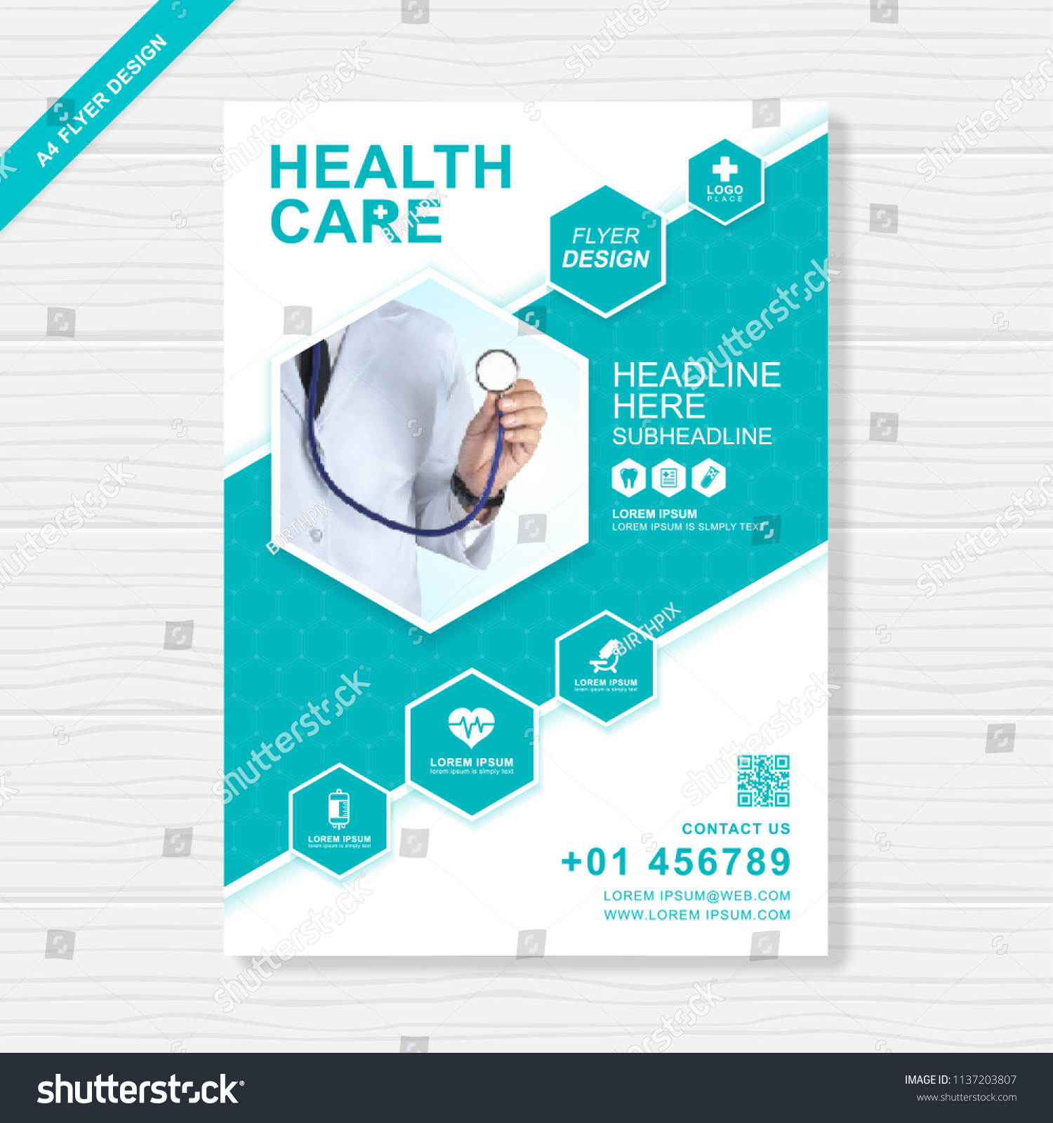 Healthcare Brochure | Health Care Cover Template Design Report Stock Vector Royalty Free