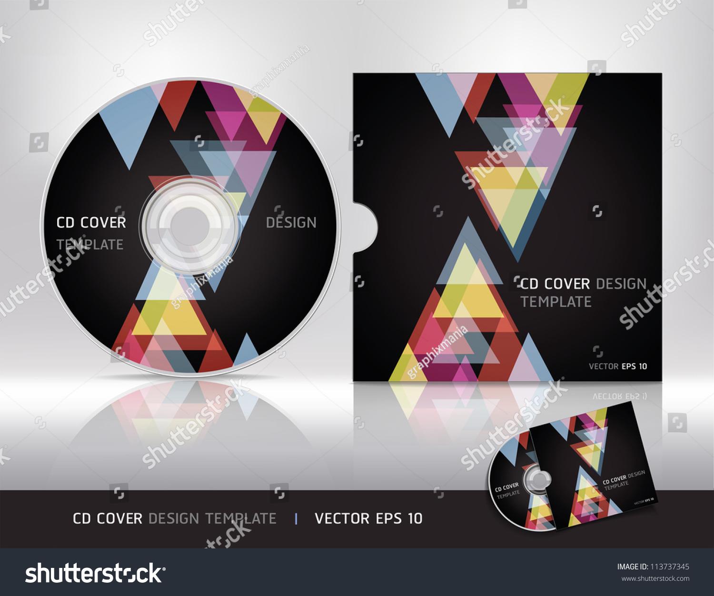 cd cover design templatevector illustration stock vector. Black Bedroom Furniture Sets. Home Design Ideas