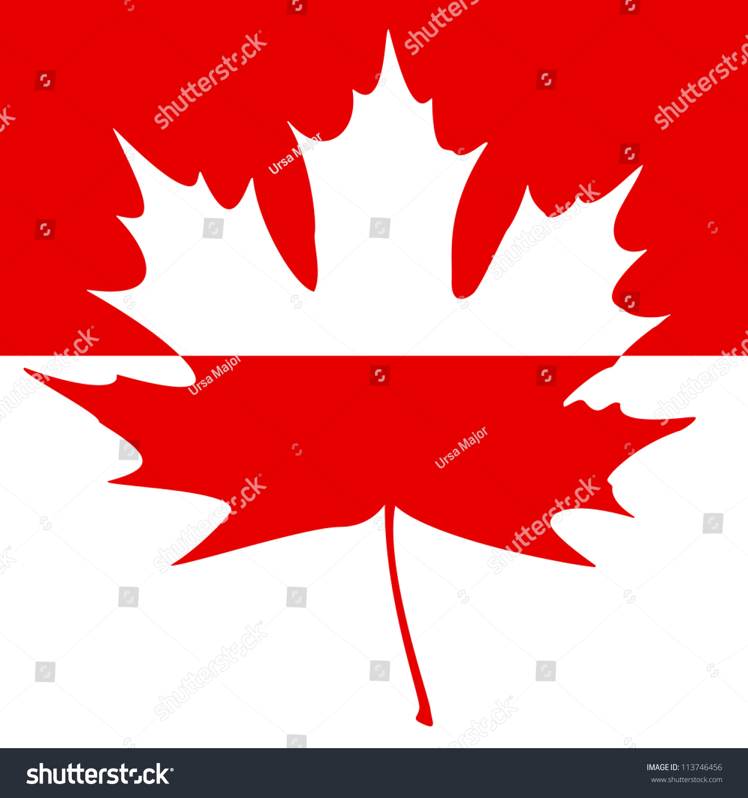 half shaded carved maple leaf subject stock illustration 113746456