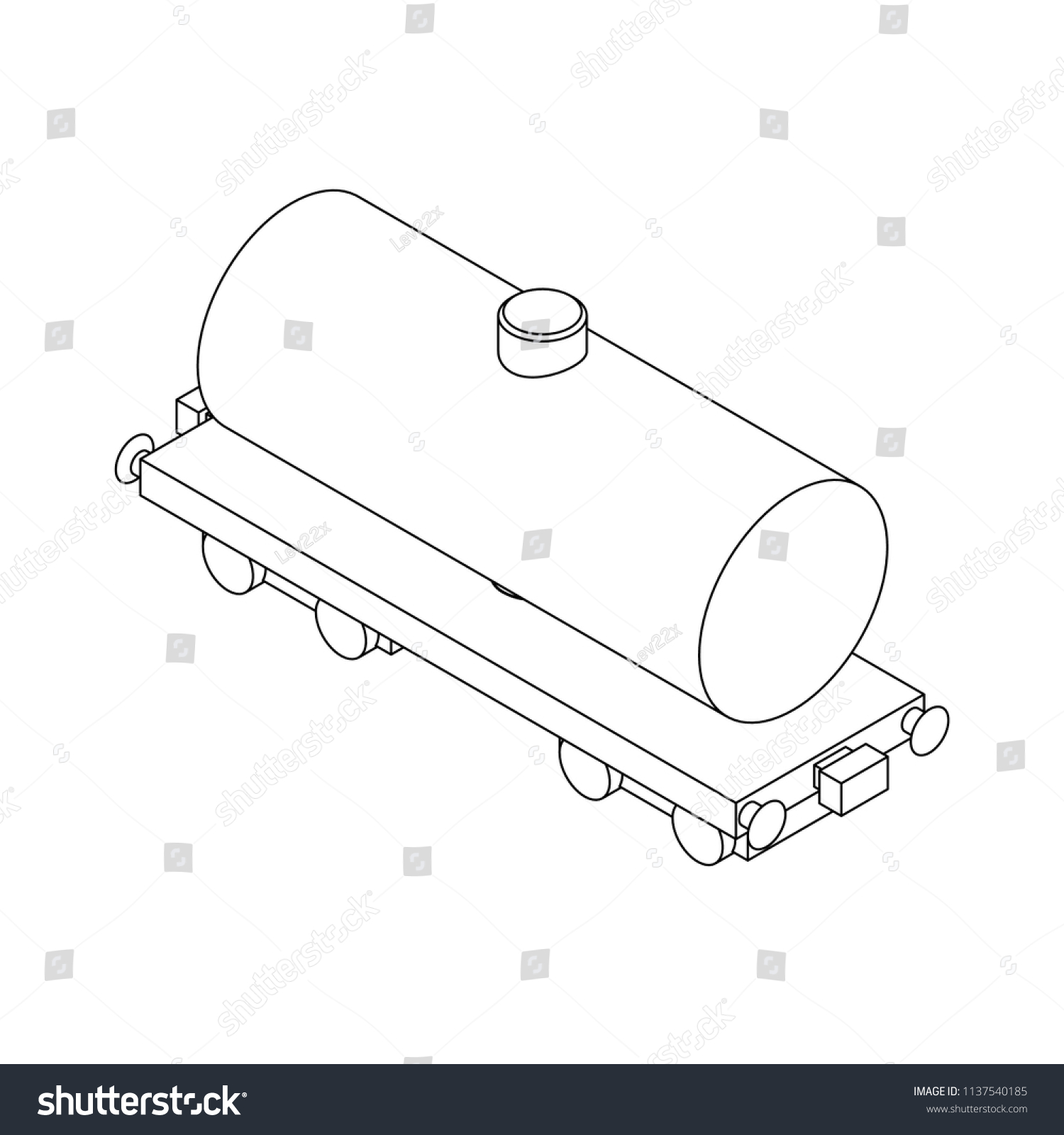Tank Barrel Diagram Detailed Schematics Septic Schematic Isometry Railway Car Canister Stock Vector Royalty Free Two Compartment