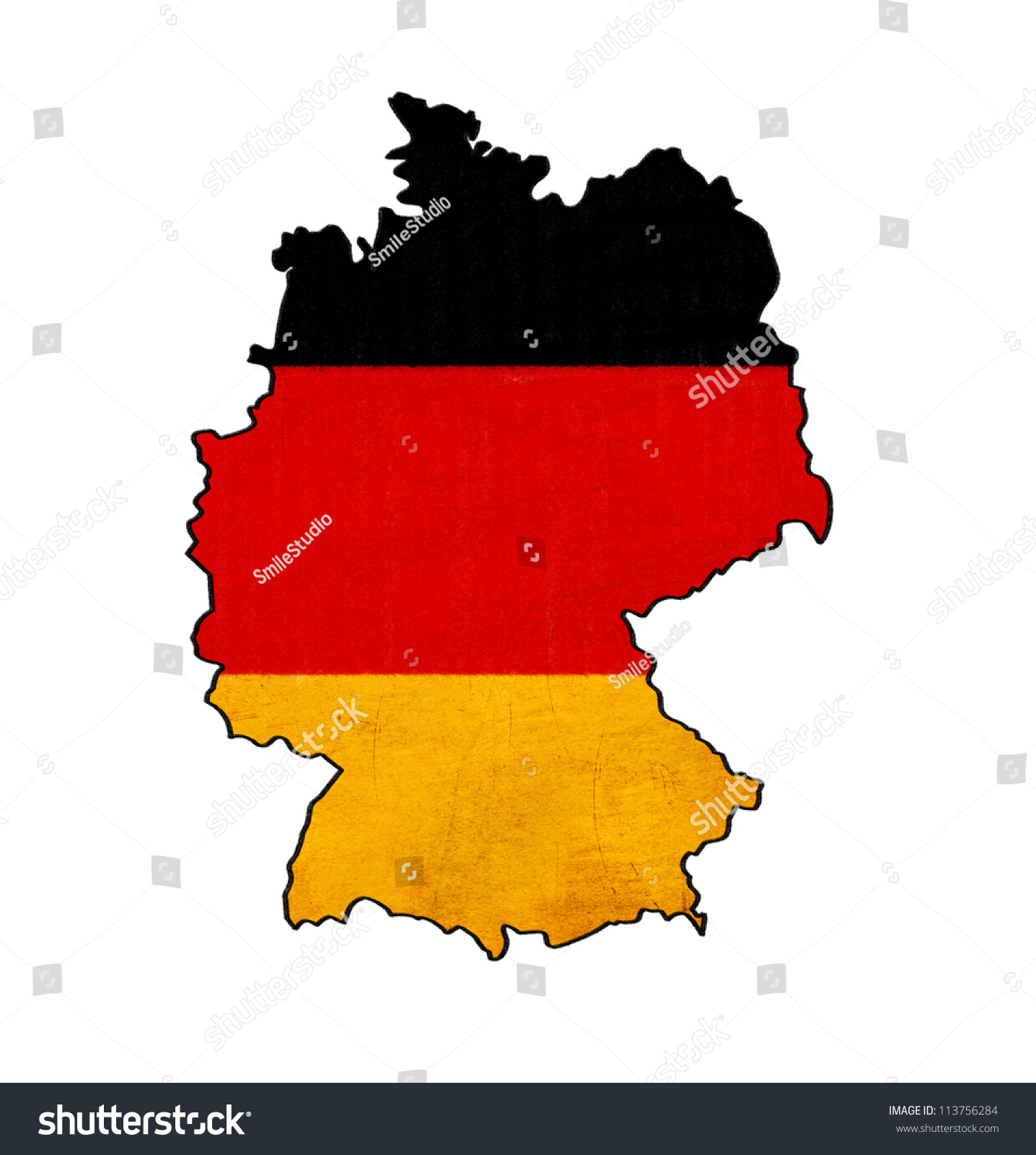 Germany Map On Germany Flag Drawing Stock Illustration - Germany map drawing