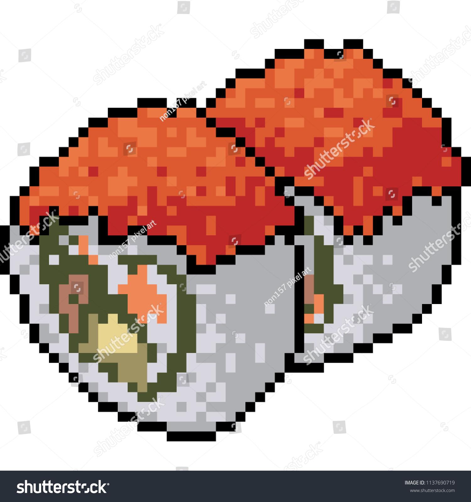 Vector De Stock Libre De Regalias Sobre Vector Pixel Art Sushi Restaurant Isolated1137690719