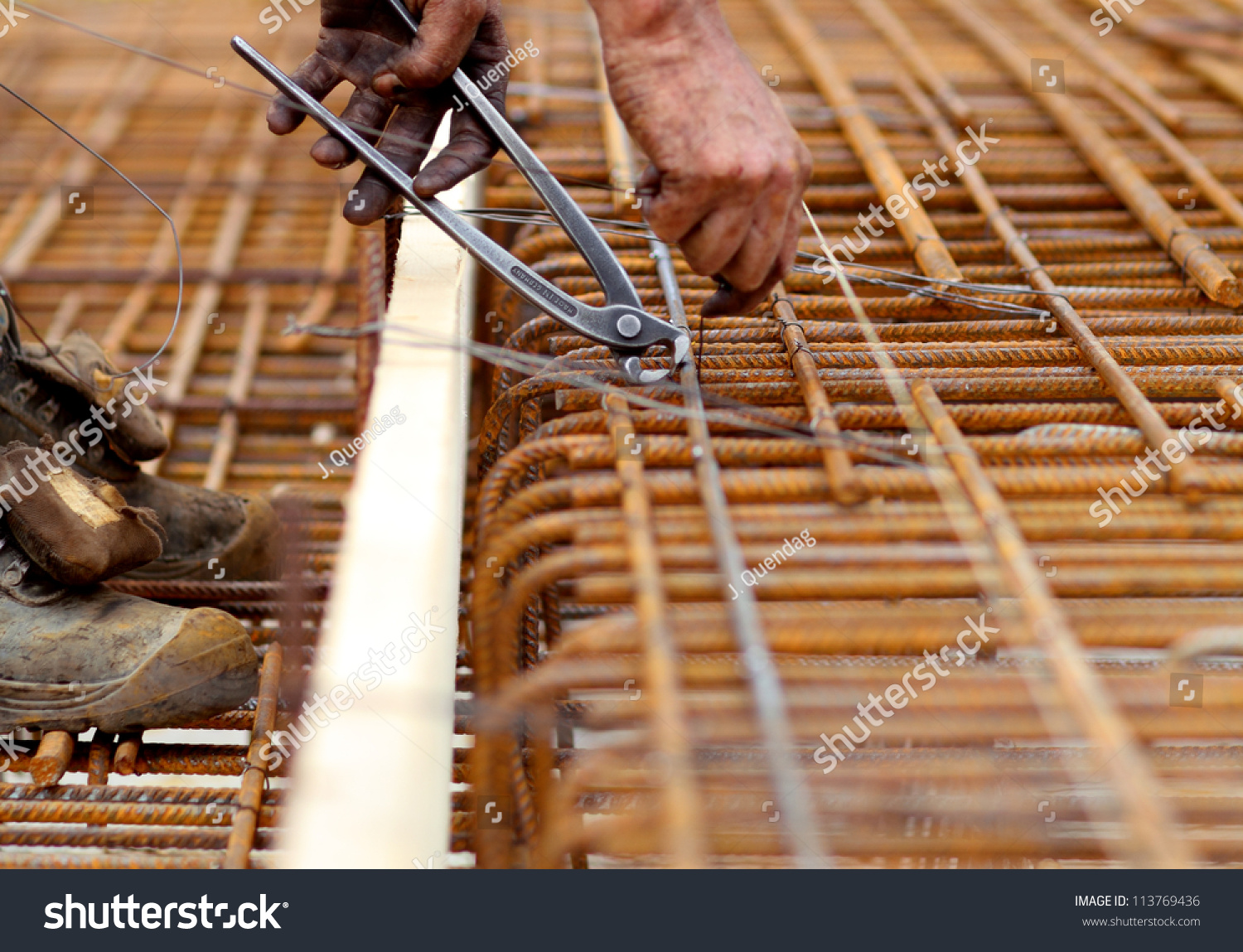 A rodbuster or ironworker working on… Stock Photo 113769436 - Avopix com